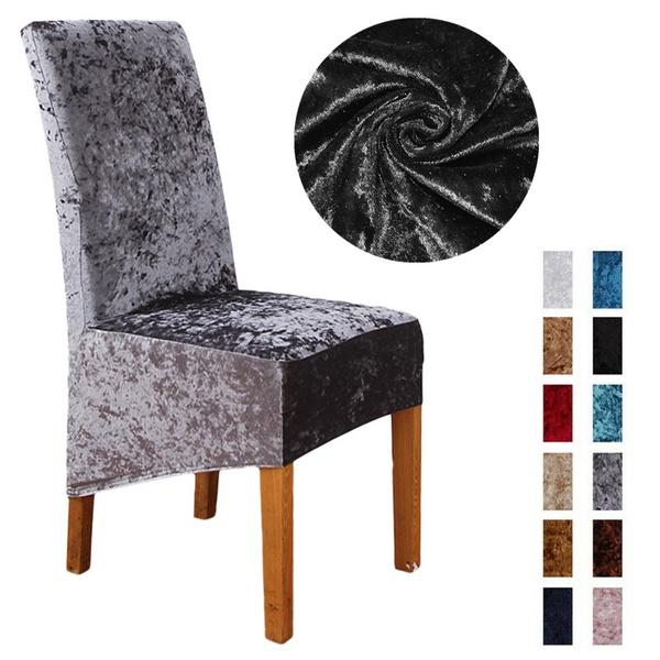 chaircover, velvet, Home Decor, Home & Living