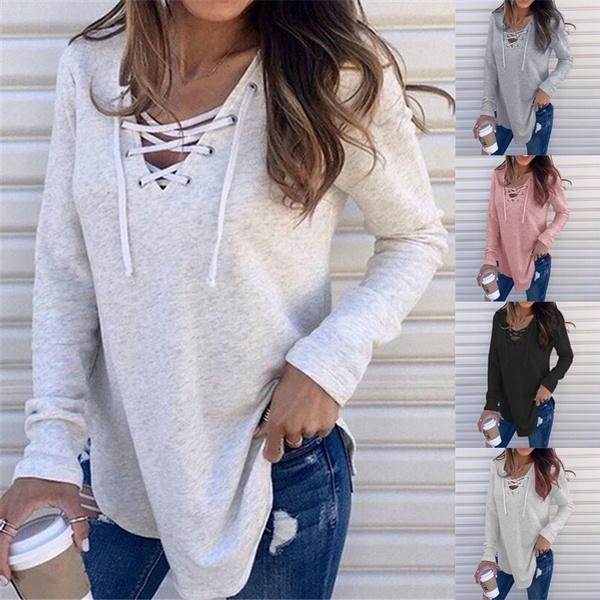Fashion, Tops & Blouses, Cotton T Shirt, Sleeve