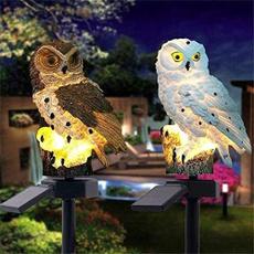 Owl, led, Garden, Waterproof