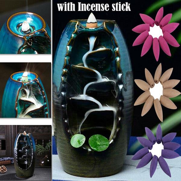 Antique, Decor, bulletincense, backflowpagodaincense