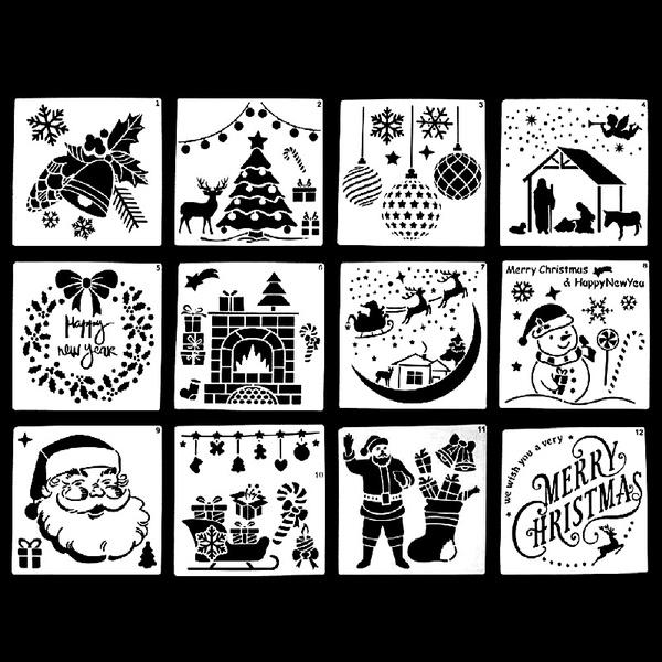 stencil, art, Christmas, layeringstencil