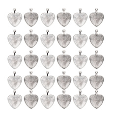 Heart, pendanttray, pendantsetting, Glass