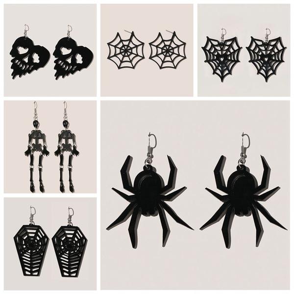 Vintage, Dangle Earring, Jewelry, skull