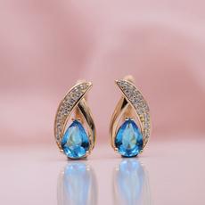 Blues, water, anniversaryearring, Jewelry