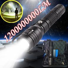 Flashlight, zoomflashlight, Rechargeable, led