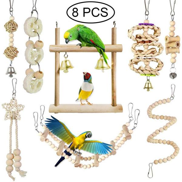 Toy, parrotcagetoy, Pets, parrotswingtoy