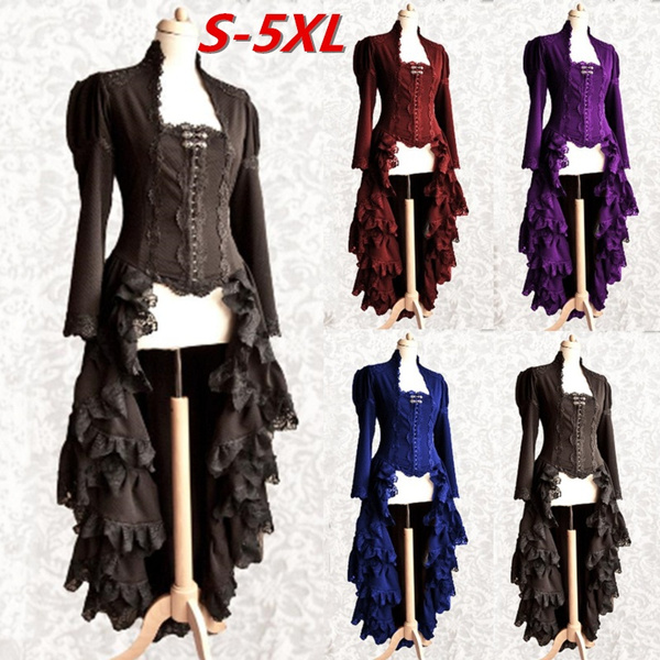 GOTHIC DRESS, medievaldres, Lace, Long Sleeve