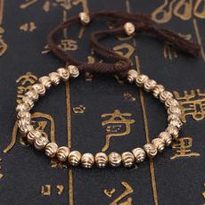 Copper, luckyrope, Bracelet, buddhist
