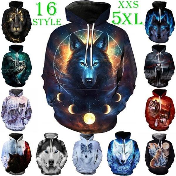 hoody sweatshirt, King, pullovermen, Plus Size
