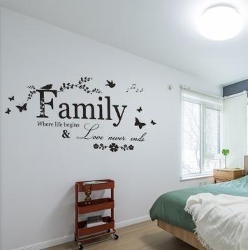 Decor, art, familyletterswallsticker, homelivingroomwalldecor