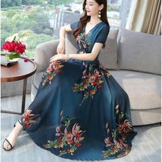 long skirt, Fashion, Floral, beachskirt