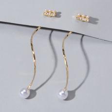stripearring, Jewelry, longearringsforwomen, Stud Earring