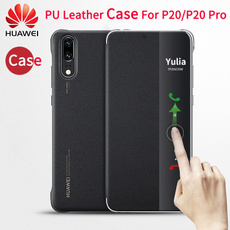 case, huaweip20pro, leather, Cover