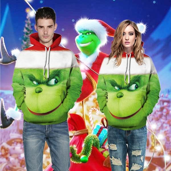 Couple Hoodies, Fashion, Christmas, Women Hoodie