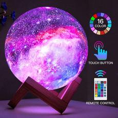 Night Light, 3dprintmoonlamp, galaxylight, Lighting