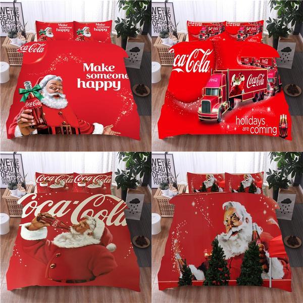 Coca Cola 3d Print 2 3pcs Bedding, Coca Cola Bedding