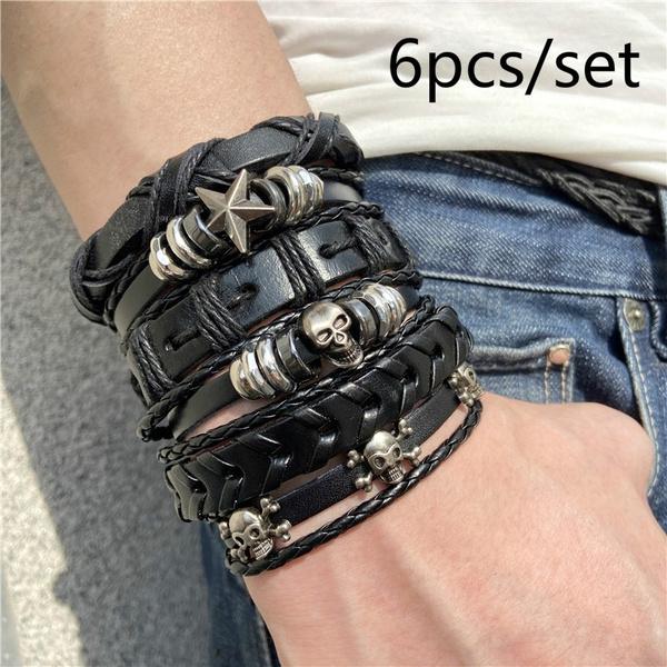 Charm Bracelet, Goth, Star, Jewelry