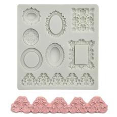 kitchendiytool, framefondantmold, Baking, Jewelry