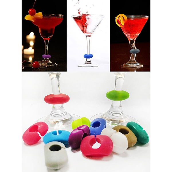 wineglasse, Kitchen & Dining, Silicone, markingcup
