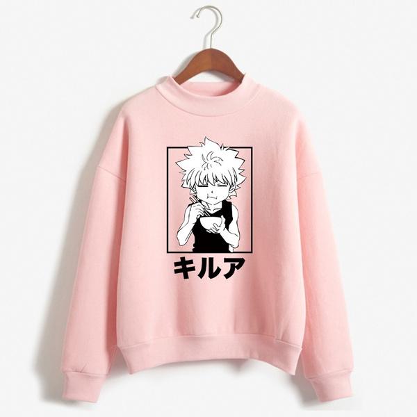 Plus size top, printed, hunterxhunter, killuasweatshirt