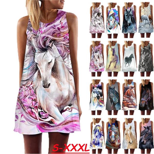 Summer, horse, Fashion, Mini