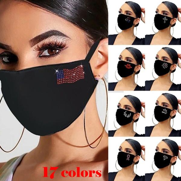 Women, Bling, mouthmask, partymask