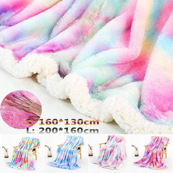 rainbow, fur, Bedding, Sofas