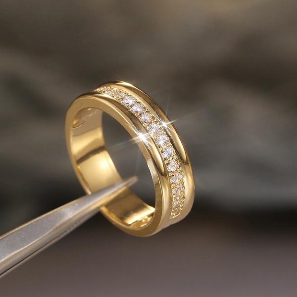 Fashion, wedding ring, gold, Simple