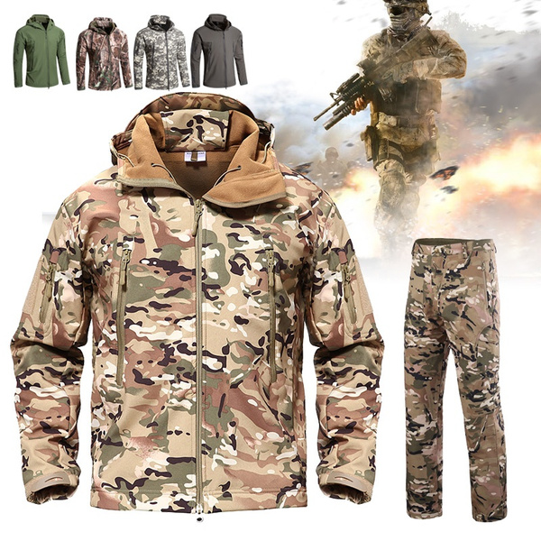 Men's Fashion Military Tactical TAD Sharkskin Jacket Or Pants Men Outdoor  Hunting Clothes Hiking Climbing Waterproof coat or trousers | Wish