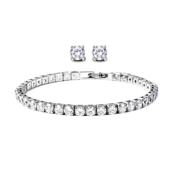DIAMOND, Bridal Jewelry Set, vintage jewelry, Tennis
