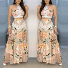 long skirt, summer skirt, Lace, floral lace
