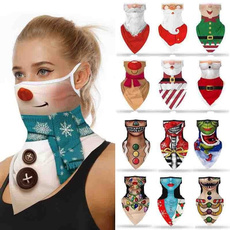 christmasbandana, Fashion, halffacemask, santafacemask