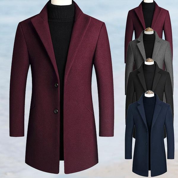 woolen coat, collar slim, slim, winterjacketsmen