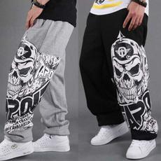 beampant, harlanpant, skull, Casual pants