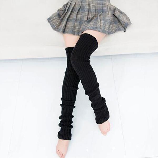purecolorbootssock, Knitting, Fashion, wintersockswomen