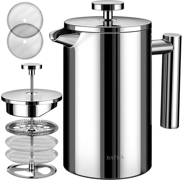 Coffee, Stainless Steel, Metal, FRENCH