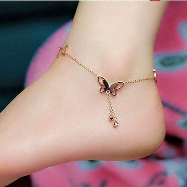 butterfly, beachankletchain, Jewelry, Chain