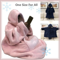 hugglehoodieblanket, Fleece, hooded, hooededcoat