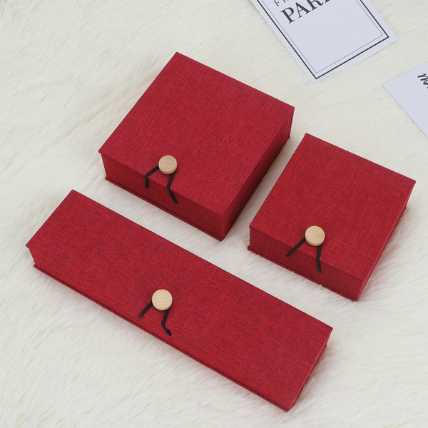 Box, Chain, linenbraceletbox, linengiftcontainer