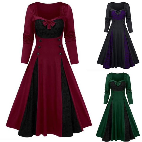 GOTHIC DRESS, Plus Size, Lace, Sleeve
