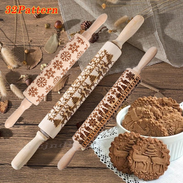 Baking, doughrollingpin, woodenrollingpin, rollingpindonut