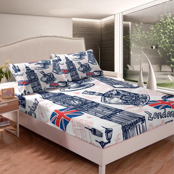 British, crown, decorfittedsheet, bedsheetset