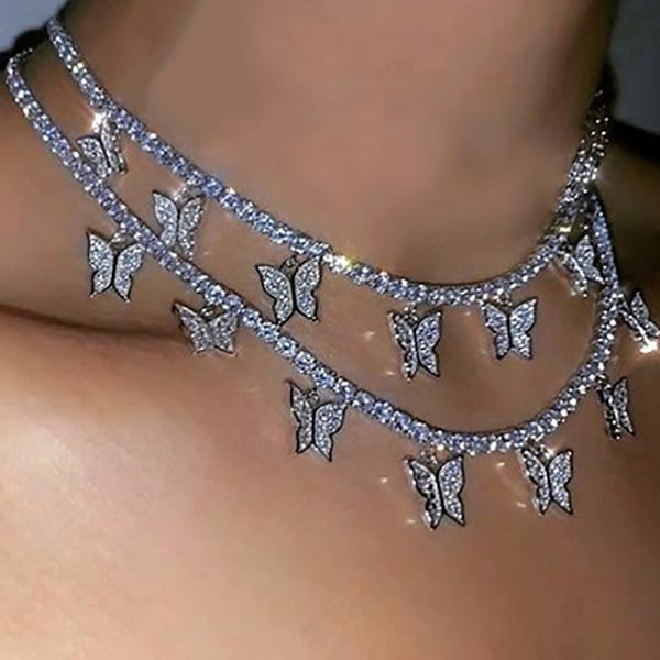 Choker, chainsforwomen, necklace for women, butterflynecklace