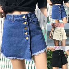 Splicing, #Summer Clothes, Shorts, high waist