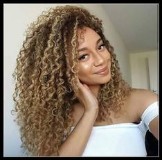 wig, Fashion, brownwig, longcurlyhair
