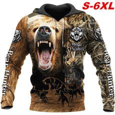 3D hoodies, Fashion, Hunting, plus size hoodie