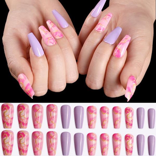 ballerinanail, acrylic nails, pressonnail, frenchnail
