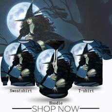 Fashion, Witch, Shirt, Halloween