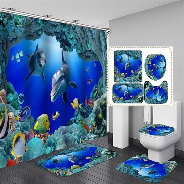 sceneryshowercurtain, Bathroom, showerrug, Shower Curtains