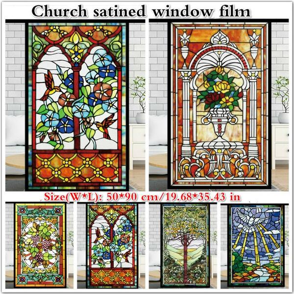 glasssticker, stainedglassvinyl, churchglasssticker, stained